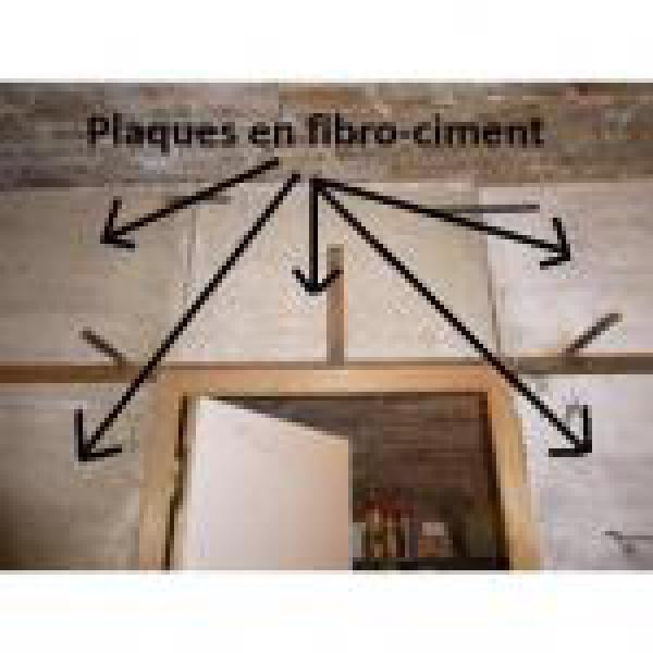 plaques en fibro ciment utilis es pour faire une cloison. Black Bedroom Furniture Sets. Home Design Ideas